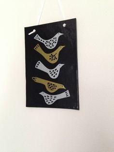 Glass Bird Hanger, Fused Glass, Hanging Birds, Love Birds, Bird Decor, Gifts for Bird Lovers, Wedding Gift for Couples, Gift for Her