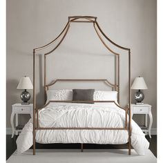 Bailey Brushed Copper Full Size Canopy Bed By I Love Living