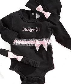 black suit newborn baby clothes with pink bow
