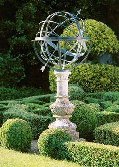 bronze armillary sundial- For Formal Gardens- on a different pillar- needs a bronze pillar