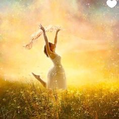 Free in Him, Praise the Lord. Prophetic Art painting of woman running in a field of wildflowers in God's glory Worship Dance, Praise Dance, Praise And Worship, Worship Jesus, Praise God, Dark Fantasy Art, Art Prophétique, Braut Christi, Super Heroine