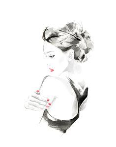Woman fashion illustration by Christian David Moore