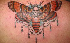 Death's Head Moth tattoo