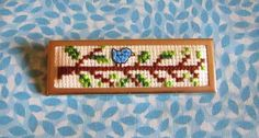 KBB Crafts & Stitches: Cross-Stitch Bluebird Pin