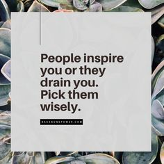 People inspire you or they drain you. Pick them wisely. Community Boards, Codependency, Toxic People, Invite Your Friends, Psychopath, Ptsd, Narcissist, Healthy Life, Self