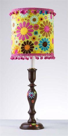 Chocolate Daisies Lamp