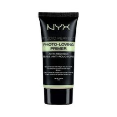 NYX Studio Perfect Photo Loving Primer (86 DKK) ❤ liked on Polyvore featuring beauty products, makeup, face makeup, makeup primer, beauty, filler, green and nyx