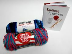 Enter to win the Knitting Book and Yarn Collection! One lucky winner will receive one copy of Knitting Ephemara with one skein of Bernat Super Value Stripes in Oceana Stripes and one skein of Red Heart Super Saver in Lagoon. The deadline to enter is May 15, 2016 at 11:59:59 PM Eastern Time.
