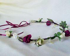 Burgundy Woodland bridal wedding accessories flower by AmoreBride, $34.95