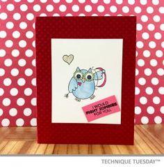 Cupid Love You Owl Handmade Card