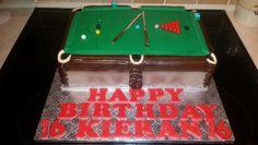 snooker table sponge cake