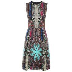 Etro Paisley Sleeveless Dress (28167335 BYR) ❤ liked on Polyvore featuring dresses, sleeveless dress, sleeveless a line dress, etro dresses, no sleeve dress and paisley dress