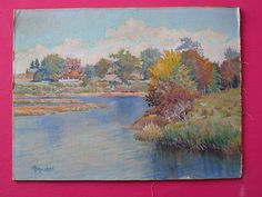 "A pretty painting signed, ""Winslow."" Nice landscape!"