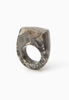 Marbled Silver Ring