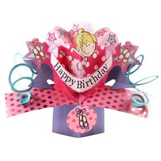 Ballerina Birthday Pop-Up Greeting Card Original Second Nature Pop Up Cards Best Selling Range Of Greeting Cards Available At Love Kates. Pop Up Greeting Cards, Pop Up Box Cards, Ballerina Birthday, Party Shop, Lets Celebrate, Birthday Balloons, Decoration, Birthday Celebration, Great Gifts