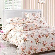 Amazon.com: Sisbay Girls Vintage Floral Bedding,Rural Rose Garden Duvet Cover,Wedding Fragrant Fashion Bed Set,Queen King,4pcs (king, light pink): Home & Kitchen