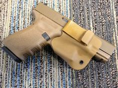 Alamo Tactical's kydex minimalist holster is an extremely low profile and simple holster that adds very little bulk while carrying. Their IWB holster uses a J-Clip to keep the holster from moving while drawing and covers the trigger guard to prevent accidents