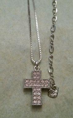 Swarovski Pink Crystal Cross Pendant Necklace #crystal #swarovski #fashion #ebay #jewelry #necklace #cross #religious