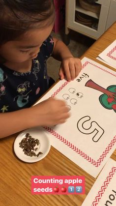 Fun and easy Apple seed counting activity your kids would love👍❤️ Apple Activities, Counting Activities, Apple Seeds, By Using, Teacher Tools, Preschool, Apps, Easy, Fun