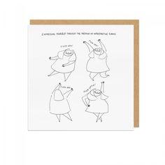 Interpretive Dance Square Greeting Card | Greeting Cards | Cards etc. | Ohh Deer