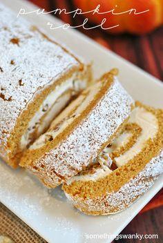 Pumpkin Roll | www.somethingswanky.com