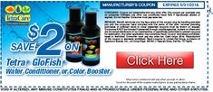 Save $2 on Tetra GloFish® Water Conditioner or Color Booster. #coupon #glofish #tetra #aquaticsavings http://shout.lt/Hjm0