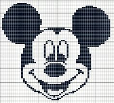 Mickey Mouse perler bead pattern – Famous Last Words Crochet Disney, Crochet Mickey Mouse, Mickey Mouse Quilt, Patchwork Disney, Disney Quilt, Loom Beading, Beading Patterns, Embroidery Patterns, Crochet Patterns