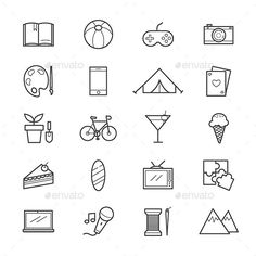 24 Interest N Hobbies Icons The Free Icons Would Be Debut Later