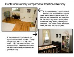 Montessori Nursery compared to Traditional Nursery - Mone says: I´ve re-arranged Eriks nursery today, now he sleeps in his new montessoti kinda like room for the 1st time. He did sleep in his cuddle-nook on the floor several times now, so I thought we give the new bedding a shot. Feedback will follow ;)
