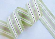 30MM VINTAGE GREEN / GREEN, PINK & RUBY STRIPES http://www.myinspiredplace.com/product/30mm-ribbon-vintage-green-pink-ruby-stripes/