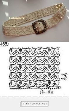 Ceintures - Fleurs et Applications au Crochet. Crochet Belt, Diy Crochet And Knitting, Crochet Diagram, Crochet Bracelet, Crochet Shoes, Love Crochet, Crochet Motif, Irish Crochet, Crochet Designs