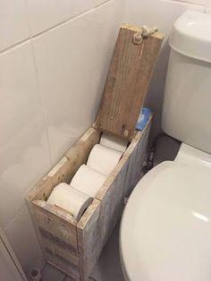 Shabby Chic Toilet Roll Holder, Toilet Roll Holder Box, Large Bathrooms, Small Bathroom, Bathroom Ideas, Guys Bathroom, Bathroom Mold, Chic Bathrooms, Basement Bathroom
