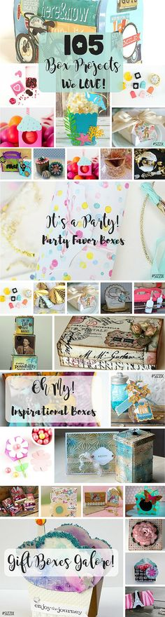 We LOVE making boxes here at Sizzix, from party favor boxes, to gift boxes, jewelry boxes, home decor boxes, celebration boxes and so many more. Are you ready for 105 Box Projects we LOVE?