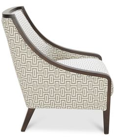 Landor Printed Fabric Accent Chair Living Room Printed