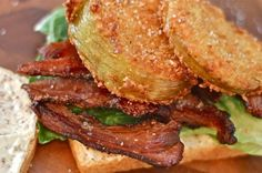 Is Pork Jowl The New Bacon?  Peppered Pork Jowl and Fried Green Tomato BLT Recipe