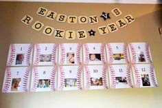 Rookie Year #birthday #baseball - baseball paper from Hobby Lobby &…