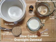 Slow Cooker Steel Cut Oats | Chew On This- brought to you by NatureBox!