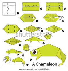 Step By Step Instructions How Make Image vectorielle de stock (libre de droits) de 435736429 – Origami Community : Explore the best and the most trending origami Ideas and easy origami Tutorial Diy Origami, Origami Simple, Origami Star Box, Origami Love, Origami Fish, How To Make Origami, Origami Folding, Paper Crafts Origami, Origami Design