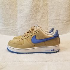 4496c9cb3eeb B42 VTG Nike Air Force 1 Low Sneakers-University Blue-314192 241-Size 7Y AF1   fashion  clothing  shoes  accessories  kidsclothingshoesaccs  unisexshoes  ...