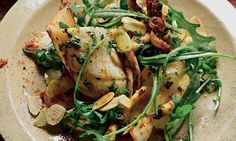 Squid with almonds