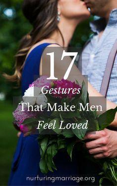 17 Gestures That Make Men Feel Loved - so many great ideas to help your husband feel loved .no, Romantikk, Kjærlighet, Love, Romance