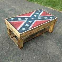 Rebel flag table https://m.facebook.com/JLcountrycreations/