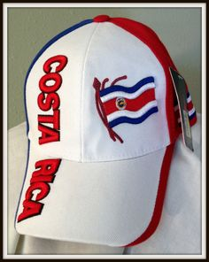 d7e91e6b35be6 EMBROIDERED ADULT ADJUSTABLE COSTA RICA CAP BY SARA HEADWEAR FREE SHIPPING  USA. M K Sports
