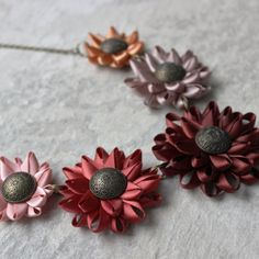 Fall Statement Necklaces Flower Statement Necklace Burgundy Burnt Orange Fall Colors Fall Jewelry Unique Necklaces Handmade Necklaces