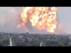 Massive explosion in Homs, Syria - YouTube