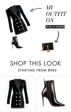 """Untitled #1"" by alicebroinea on Polyvore featuring Balmain, Yves Saint Laurent and blackhistyle"