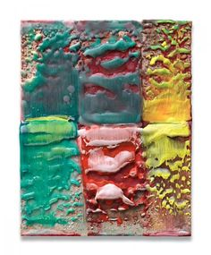 Lynda Benglis  Untitled #7 - 2005/06  Pigmented encaustic wax on canvas mounted on wood  34,9 x 27,3 cm / 13,8 x 10,8 in.