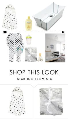 """""""Bed time"""" by cleo-scott ❤ liked on Polyvore featuring interior, interiors, interior design, home, home decor, interior decorating, Stokke and Little Giraffe"""