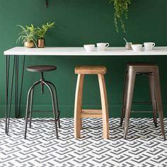 BCT Tiles Feature Floors Luka Black Matt Wall & Floor Tiles - 331 x 331mm - BCT57840