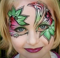 Face Paint design for girls by Jenny Saunders, Australia
